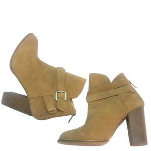 CHINESE LAUNDRY | Tan Suede Heel Ankle Booties